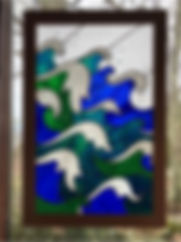 """Stained glass window entitled """"Perfect Storm"""""""