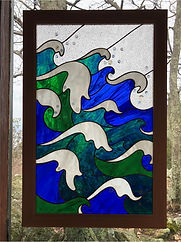"Stained glass window entitled ""Perfect Storm"""