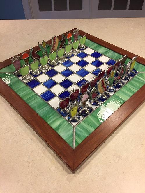 """Summer Picnic"" Chess Set"