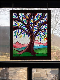 "Stained glass window entitled ""Celebration Tree"""