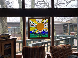 "Stained glass window entitled ""Summer Days"""