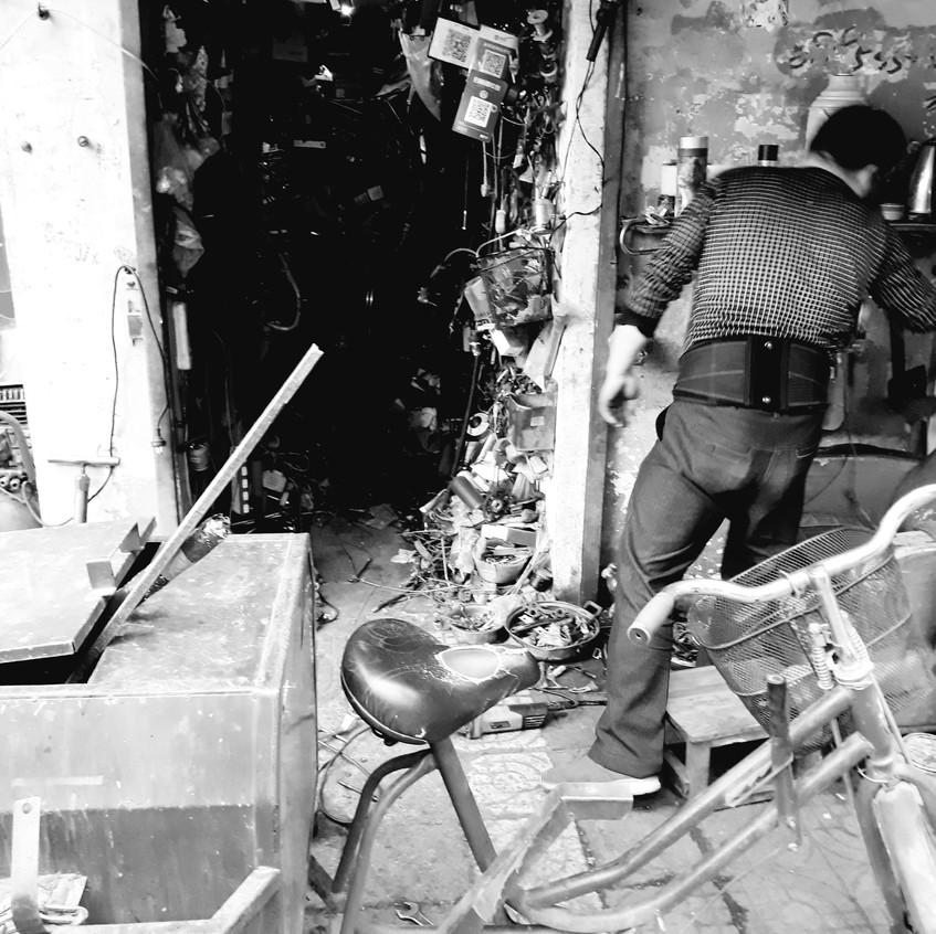 Chinese bike shop