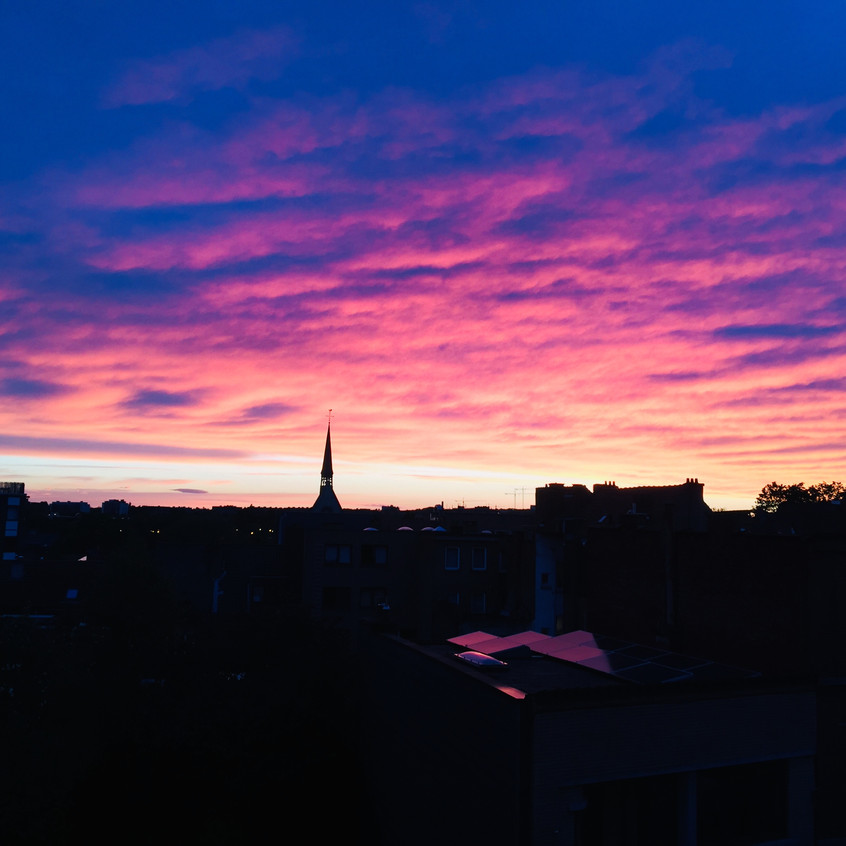 Leuven sunset