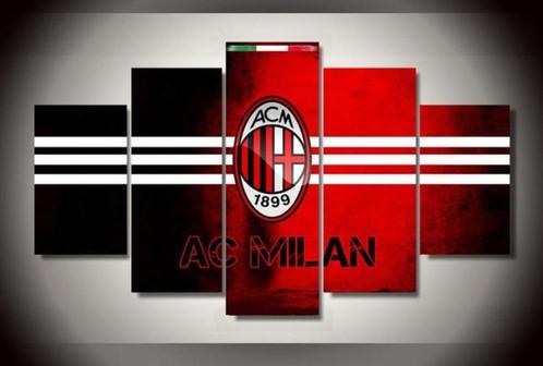 5 Panel AC Milan Soccer Canvas Wall Art