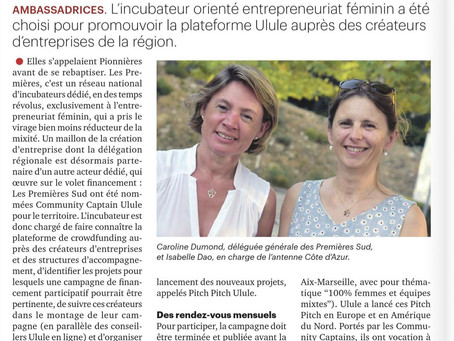 ARTICLE DE PRESSE - LA TRIBUNE CÔTE D'AZUR PARLE DES 1ÈRES SUD