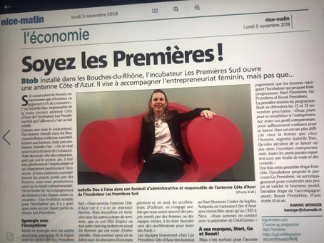 ARTICLE DE PRESSE - QUAND NICE MATIN PARLE DE NOUS ....