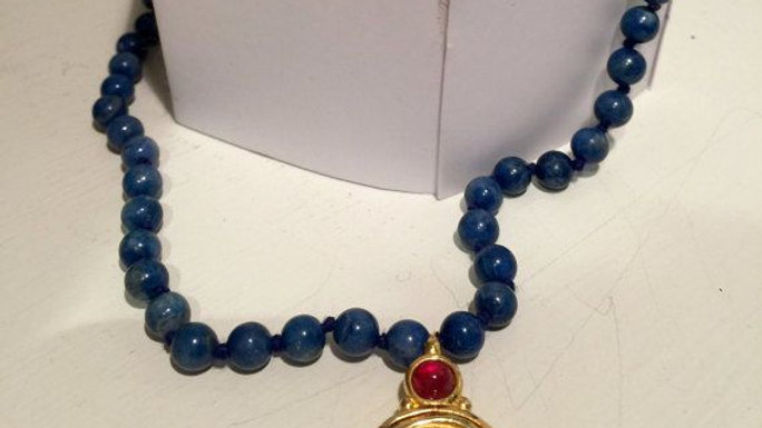 Hand-Knotted Lapis Lazuli Necklace