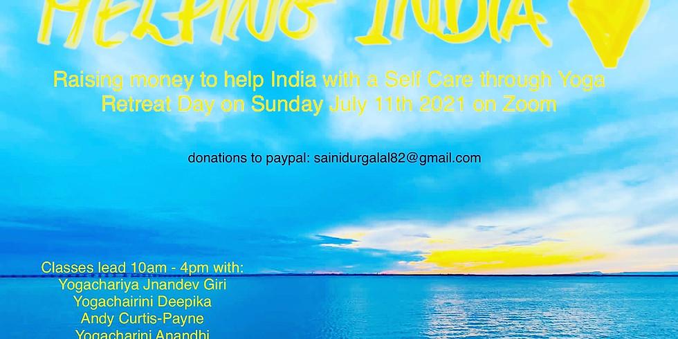 Self care yoga retreat day on line