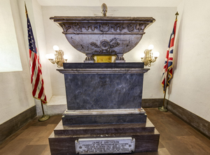 James Smithson's crypt in the Smithsonian Castle