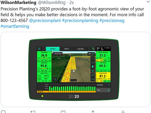 Precision Planting  Social Media Posts (Emailed Once a Month)