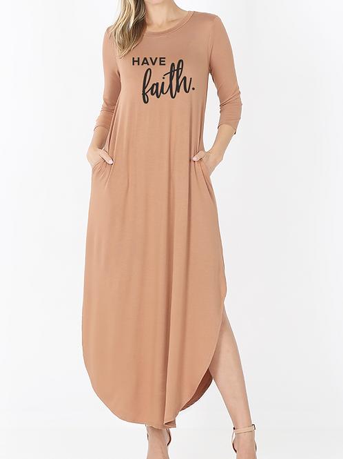 """""""Have Faith"""" Maxi Dress"""