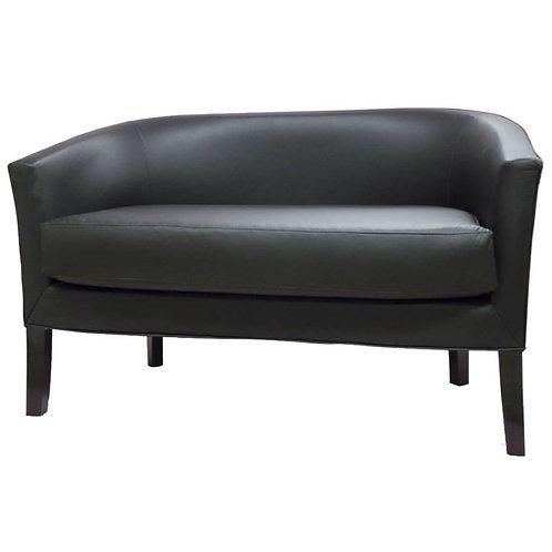 sillón 2 cuerpos ecocuero negro