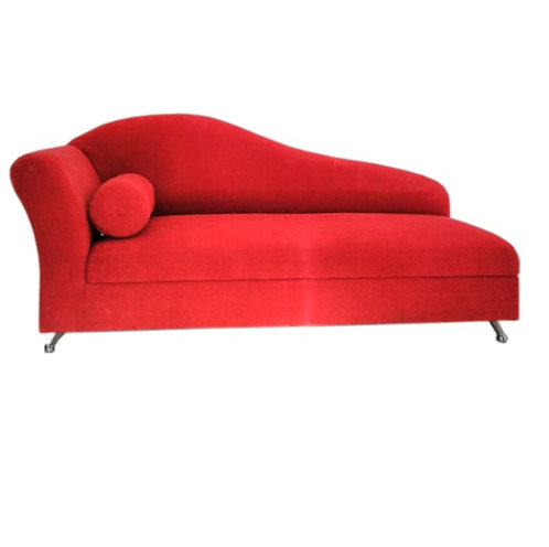 diván chenille rojo