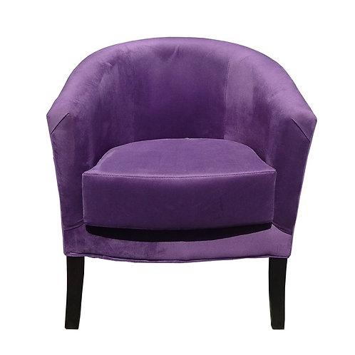 Sillón 1 cuerpo pana violeta
