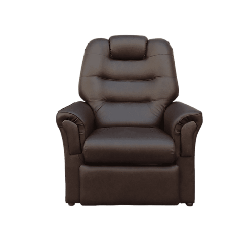 Poltrona Reclinable Ecocuero Chocolate
