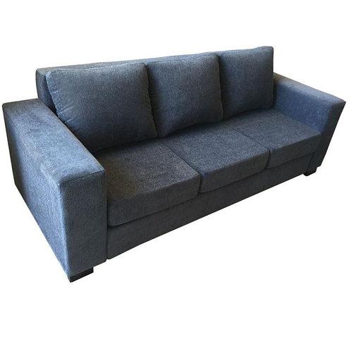 sillón de 3 cuerpos chenille gris