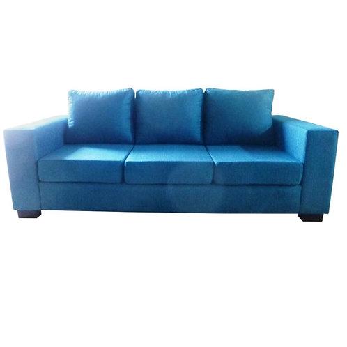 sillón de 3 cuerpos chenille turquesa