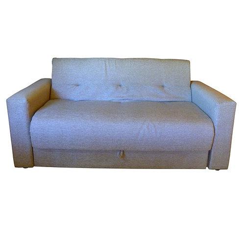 Sofá cama 2 plazas chenille gris