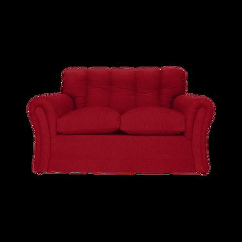 sofa 2 cuerpos chenille bordo