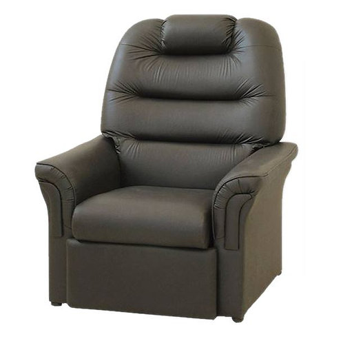 Poltrona reclinable ecocuero negro