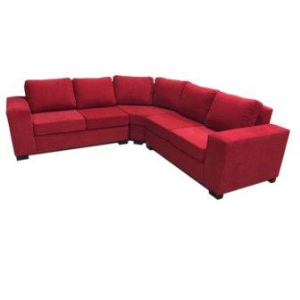 sillón Esquinero Chenille rojo