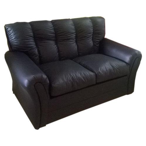 sofa 2 cuerpos ecocuero negro