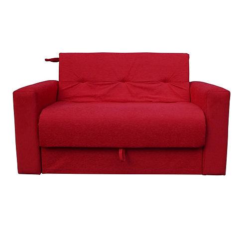 Sofá Cama Chenille Rojo