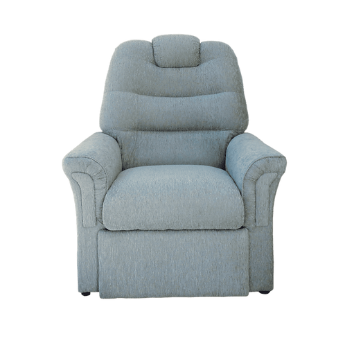 Poltrona Reclinable Chenille Gris New