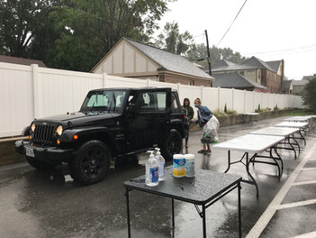 Recycling in the rain