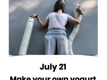 PFJ 2021 ~ Make your own yogurt
