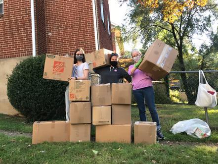 13 boxes & 3 women