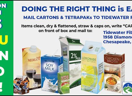 ACTION ITEM #3 – Tetra Paks!