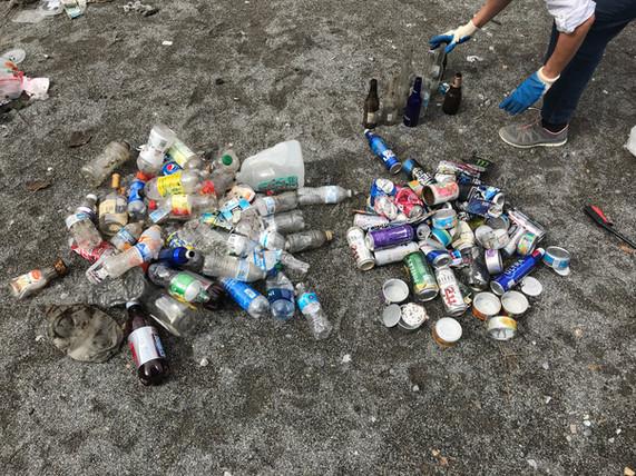 Plastic bottles & metal
