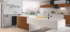 Móveis planejados cozinha duas cores