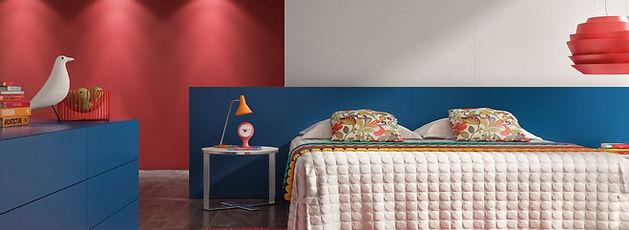 Móveis planejados quarto casal azul