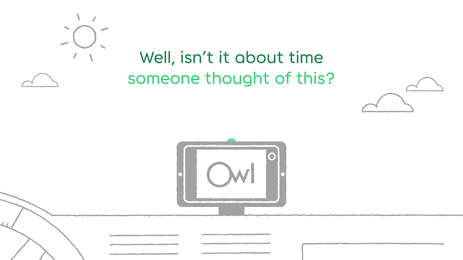 owl car cam, animation, illustration, vector art