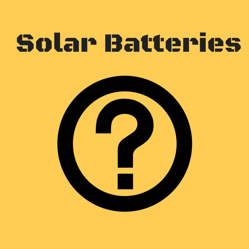 solar battery question