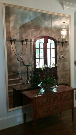 Antique Mirror Wall with Medallions