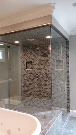 Large Double Entrance Steam Shower