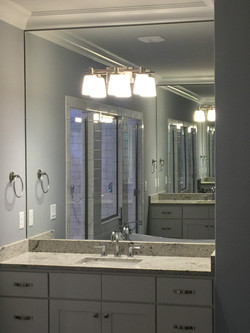 Custom Cut Tight Fit Mirror with Light