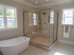 Semi-Frameless 90 Degree Shower with Butt Glazed Corner