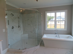 Heavy Neo Shower with Pivot  Hinge and Bolt Through Towel Bar