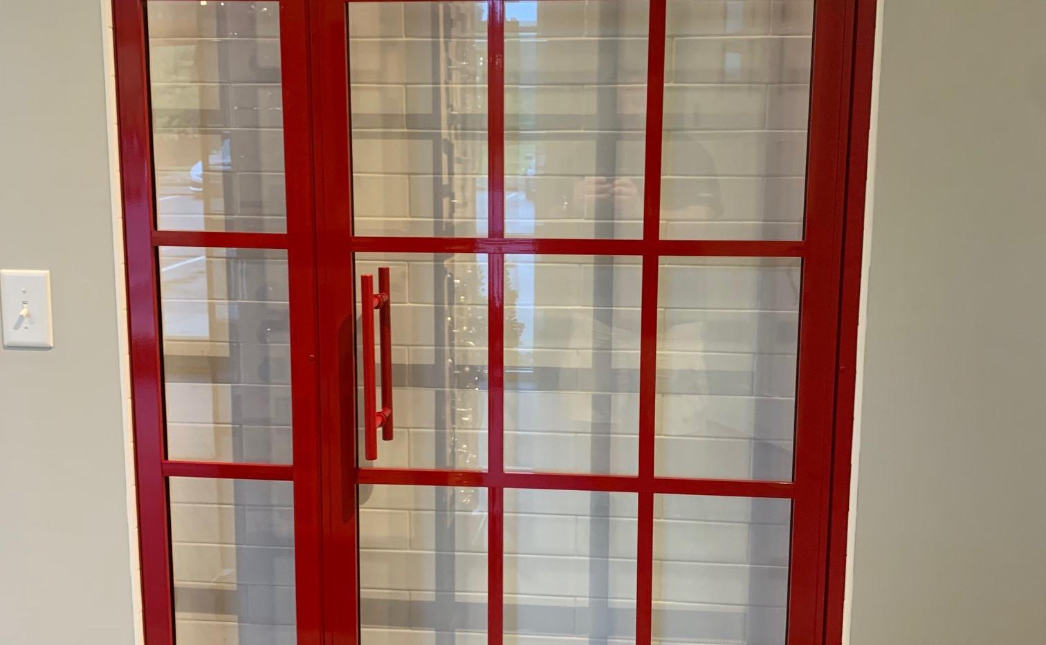Colored Gridscape Door & Inline Panel
