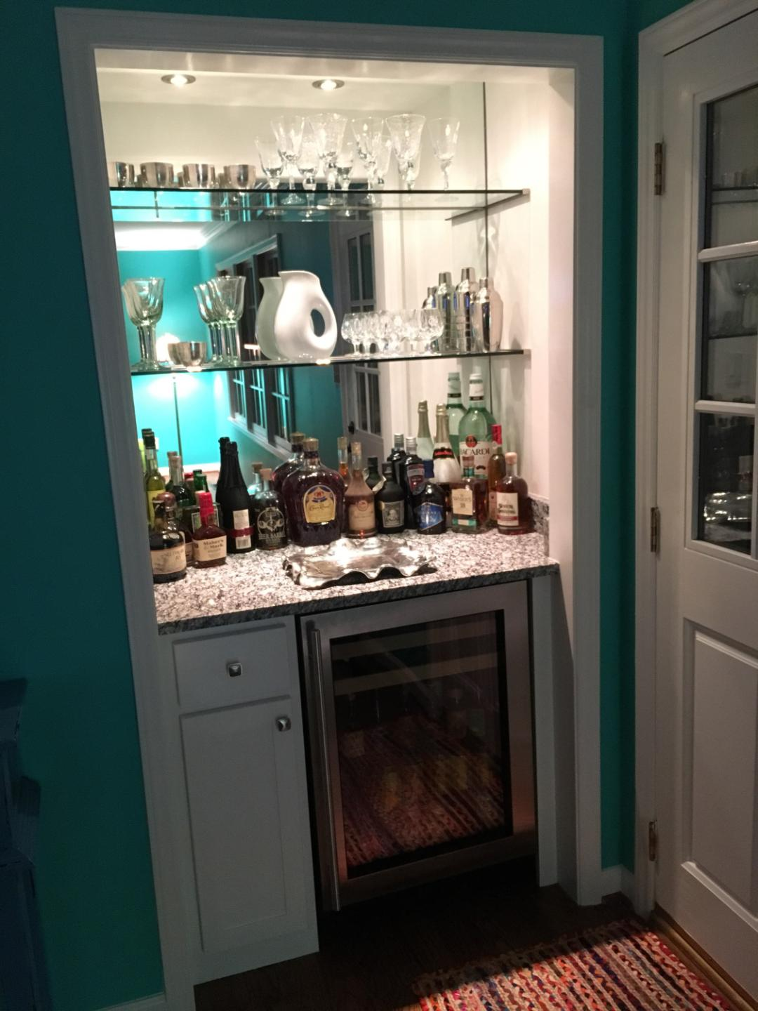 Bar Shelves & Mirror
