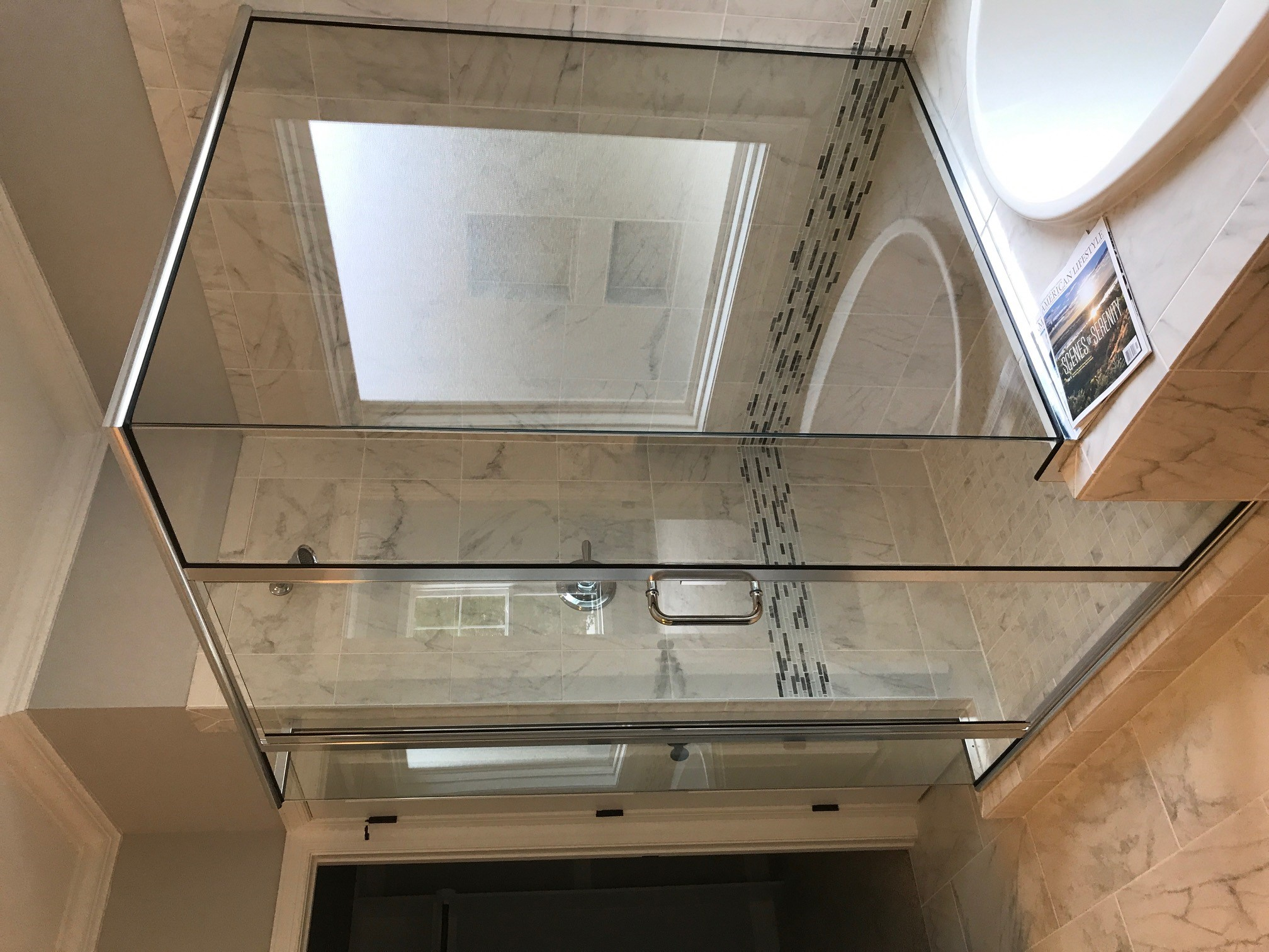 Semi-Frameless with 2 Butt Glazed Corners