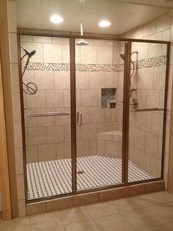 Panels with Bolt Through Towel Bars
