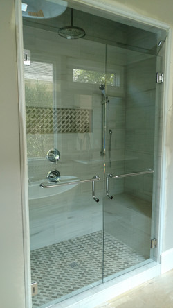 Double Doors with C-Pull Towel Bars