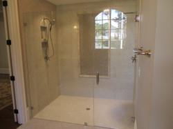Heavy Frameless Curbless Shower
