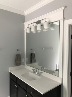 Custom Cut Mirror set in Trim Frame