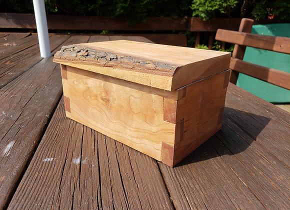 Raw edge wooden box